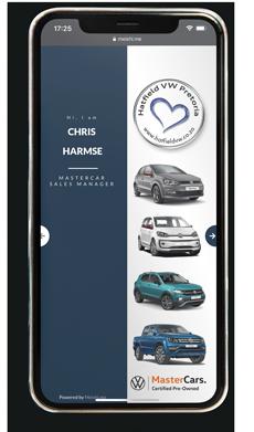 Screenshot of the Meishi business card for VW Pretoria